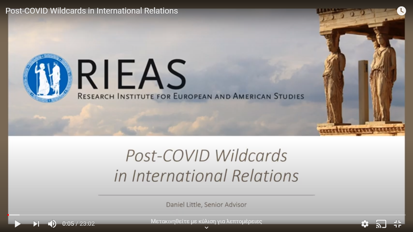 Post-COVID Wildcards in International Relations